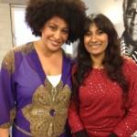 Met Tania Cross, zangeres